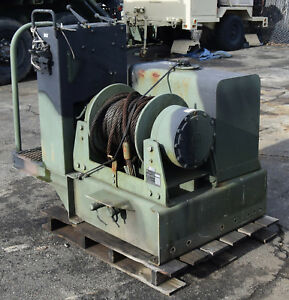 Military M916 A3 Truck 45k Lb Dp Hydraulic Drag Drum Winch Tank 45000lb Pull