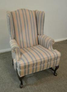 Georgian Style Ethan Allen Wing Back Chair