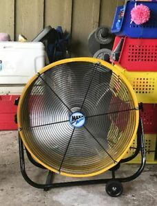 High Velocity Fan 24 Air Drying Garage Shop Two Speed Industrial Portable Wind