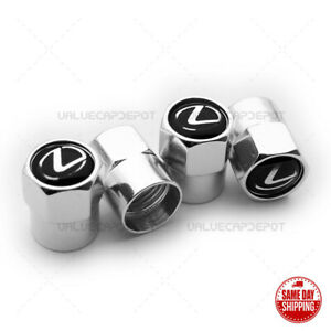 Universal Chrome Wheel Tire Air Valve Caps Stem Valve Cover For Lexus Emblem