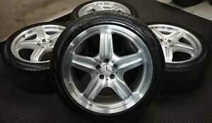 4 Factory Mercedes Benz Ml63 Amg 20 Oem Wheels Winter Snow Tires Ml550 Ml350