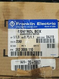 New Franklin Electric Control Box 282 3008 110 1 1 5hp 0 75 1 1kw Free Shipping