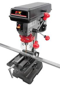 Bench Top Drill Press Machine Milling Metal Wood Garage Shop Tools Drilling Vise