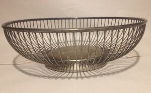 Vintage Eales 1779 Italy Round Wire Basket Silver Plated Fruit Bowl Bread Deco