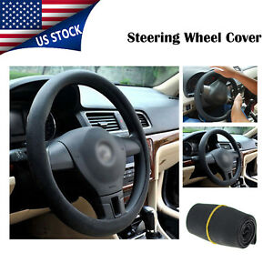 14 15 Size S Black Car Steering Wheel Cover Soft Silicon Protector Universal