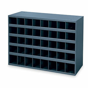 Metal 40 Hole Storage Bolt Bin Cabinet Compartment Nuts Bolts Fasteners Screws