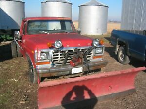 1979 Ford F350 Cab And Chassis With Western Snow Plow Isaramatic Mark Iii Pump
