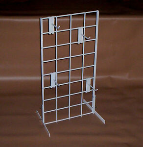 Lot Of 2 White Countertop Racks Store Display 12 X 24 3 Oc Grid New