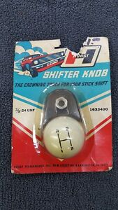 Vintage Hurst White 3 Speed Shift Shifter Ball Knob Chevy Ford Dodge Pontiac Nos