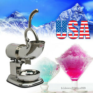 440 Lbs 200w Ice Shaver Machine Sno Snow Cone Maker Shaved Icee Electric Crusher