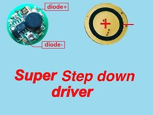 2piece Step Down 405nm 532nm 1w 3 5w Blue Green Laser Diode Driver Supply 0 5 3a