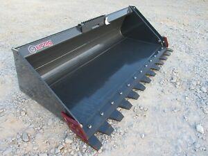 Skid Steer Attachment Virnig 72 Serrated Low Profile Tooth Bucket Ship 199