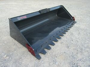 Skid Steer Attachment Virnig 84 Serrated Low Profile Tooth Bucket Ship 199