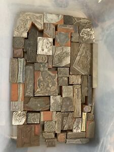 Antique Wood Printer Blocks