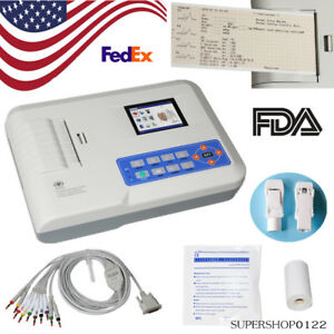 Usa Fda Electrocardiograph 3 Channel 12 Lead Ecg Machine usb Pc Software Printer
