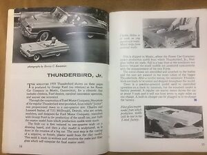 1958 1959 1960 Thunderbird Junior Production 2 Page Ford Magazine Article