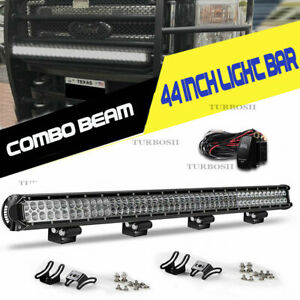 Offroad 52inch Led Work Light Bar Curved Flood Spot Combo Truck Roof Driving 50