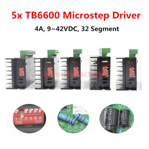 5x Tb6600 Driver Micro Step For Cnc 2 4 Phase Hybrid Stepper Motor Controller 4a