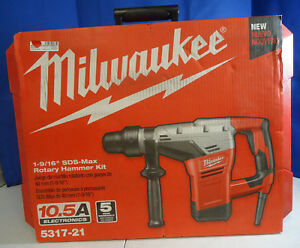ri5 Milwaukee 5317 21 1 9 16 Sds Max Corded Electric Rotary Hammer Drill Kit