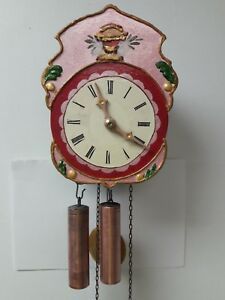 Clone Antique Schottenwerkuhr Small German Shield Clock Hand Made Hand Painted