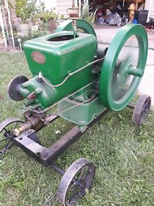 Antique 6hp Fairbanks Z Engine W Original Cart Runs See Video Nt Hit Or Miss