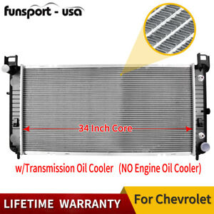 2423 34 Radiator For Chevy Silverado Cadillac Escalade Gmc Yukon 4 8 5 3 6 0l