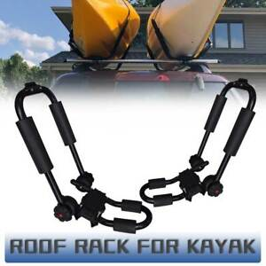 1 Pair Mutazu Canoe Boat Kayak Roof Rack Car Suv Truck Top Mount Carrier Bar Blk