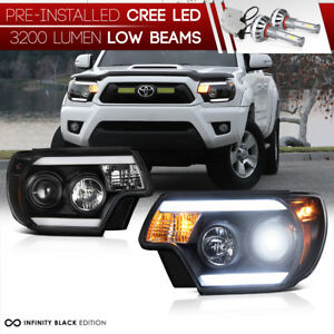 Cree Led Low Beam 2012 2015 Toyota Tacoma Tribal Headlights Trd Pro X Runner