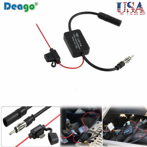 Auto Car Antenna Radio Fm Signal Amplifier Booster Strengthen Ant 208 25db 12v