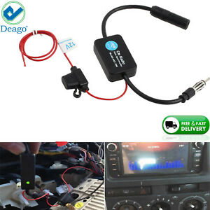 Car Auto Stereo Fm Am Radio Signal Antenna Aerial Signal Amp Amplifier Booster
