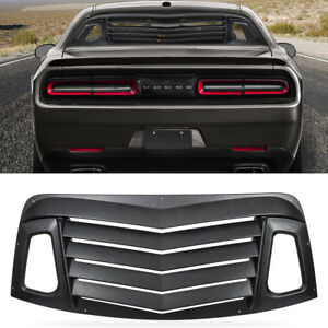 Matte Black Rear Window Louvers Sun Shade Cover For Dodge Challenger 2008 2019