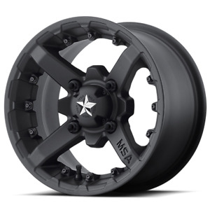 Set 4 14x7 10 4x136 Msa M23 Battle Flat Black Wheels Rims 14 Inch 46857