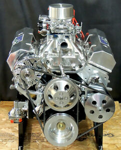 Sbc 383 Chevy Stroker Engine Hyd Roller Cam 540 Hp Crate Motor