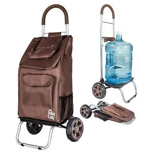 Trolley Dolly Cart Hand Luggage Collapsible Carrier Portable Foldable Grocery
