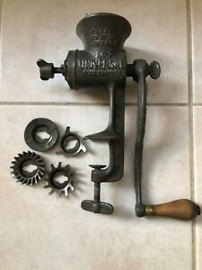 Vintage Lf C No 2 Universal Food Chopper Meat Grinder Cutters New Britain Ct