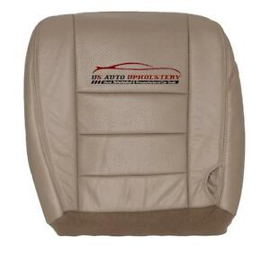 02 07 F250 Super Duty Driver Bottom Vinyl Perforated Leather Seat Cover Tan