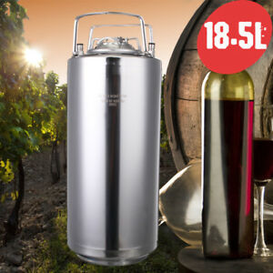 18 5l Homebrew Growler Keg Stainless Steel Beer Home Brewing Making Bar Tool