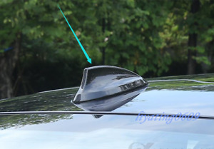 Real Carbon Fiber Roof Shark Fin Antenna Cover Trim For Bmw 5 Series G30 2018 19
