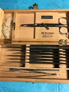 Antique Medical Surgical Set Everything Marked By H Hauptnet K36