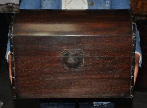 Old Chinese Huanghuali Wood Hand Carved Storage Boxes Plate Chest Treasure Box