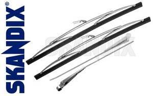 Wiper Arm And Blade Kit For Windshield All Volvo P1800 And P1800es