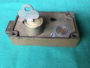Diebold Safety Deposit Box Lock Single Nose Guard Key Req Bronze Case Locksmith