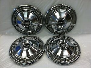 Vintage Set Of 4 1968 Chevrolet Ss 14 Hubcaps Chevelle Ss 396 Good Condition