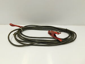 40 Copper Ground Cable W Tweco Clamps Lineman Welding e12 777