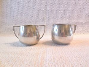 Nobility Plate Silver Plated Creamer Sugar Bowl 2 9 16 Tall