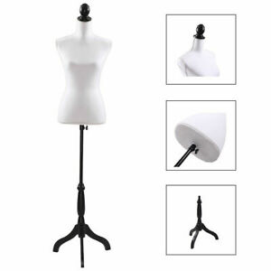 White Female Mannequin Torso Clothing Display W White Tripod Stand New Style