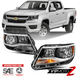 Left Right Pair For 15 18 Chevy Colorado Factory Style Replacement Headlight