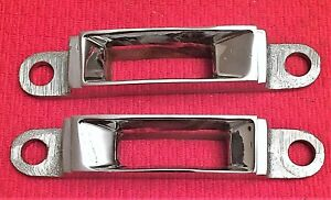 Two 1964 1965 Lincoln Continental Convertible Top Latch Receivers Nos