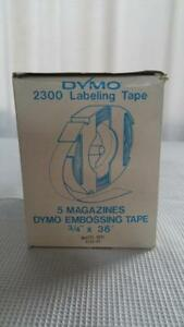 Nos 5 Dymo 3 4 X 36 Embossing Labeling Tapes Matte Red 2300 Sign Maker 5135 02