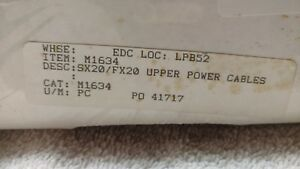 Mitsubishi Wire Edm Upper Power Cables Sx20 fx20 Part M1634 new
